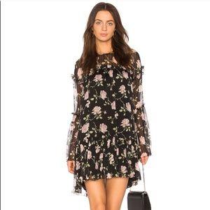 Ulla Johnson Dahlia Silk Floral Dress